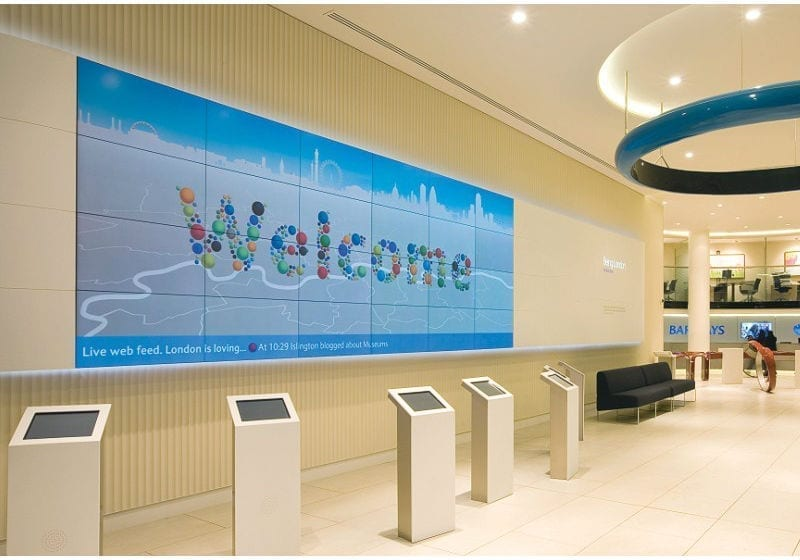 NEC Digital Signage – Barclays Bank - Nationwide