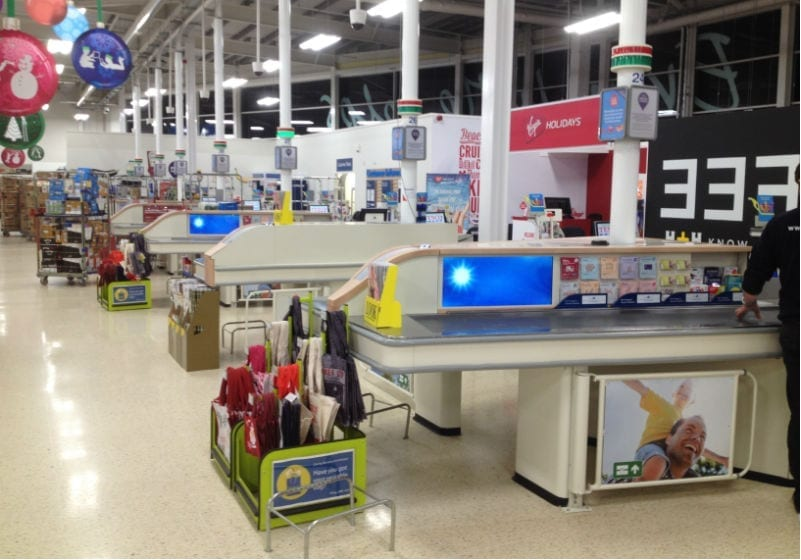 Tesco digital signage