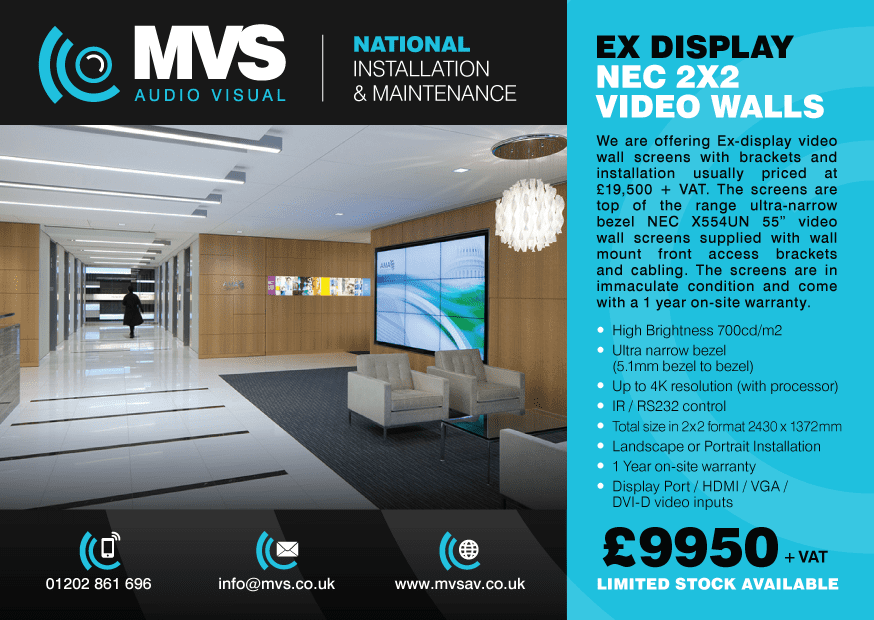NEC VIDEO WALL OFFER!