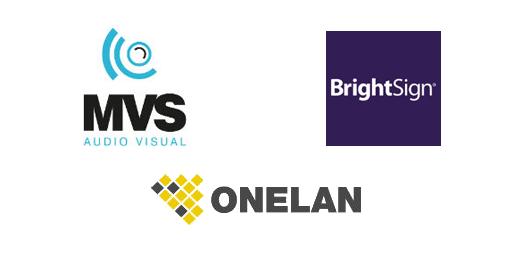 MVS digital signage solutions including Onelan, MVS & BrightSign.