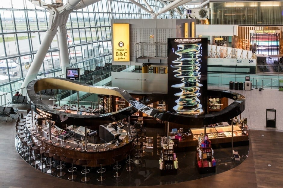 Video Wall - Caviar House & Prunier - London Heathrow T5