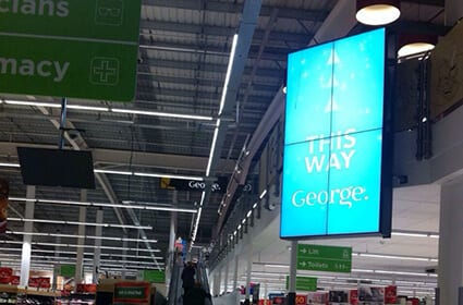 ASDA video walls & digital signage