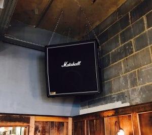 Bose speakers at Tandoor Chop House