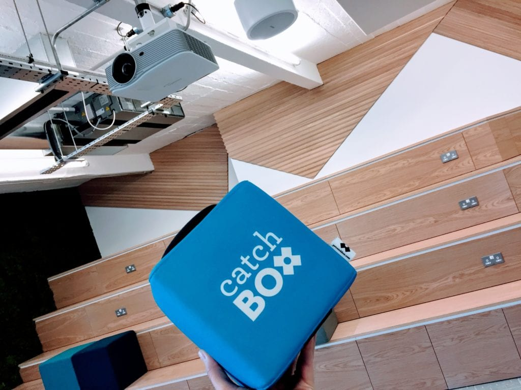 Catch Box at Transferwise office