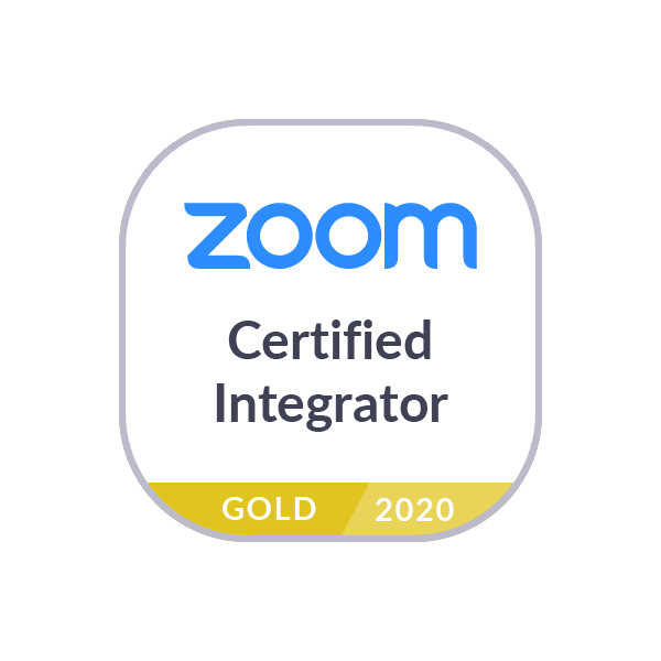 Zoom conferencing Gold Certified Integrator