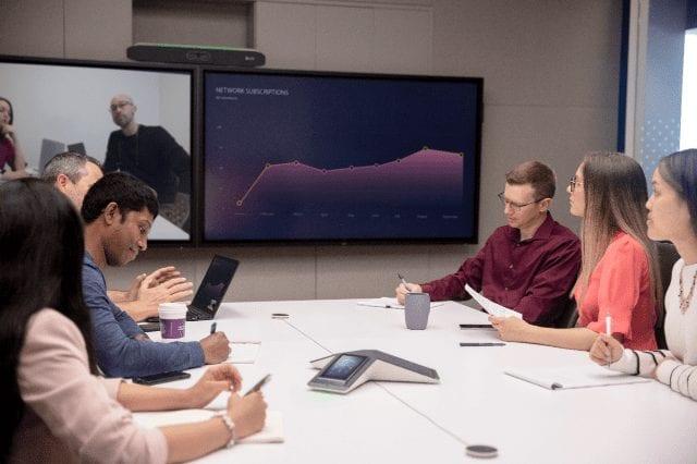 Poly X meeting room
